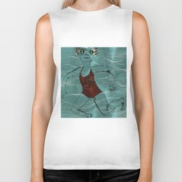 Blue Swimmer no. 2 Biker Tank