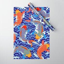 Koi fish / japanese tattoo style pattern Wrapping Paper