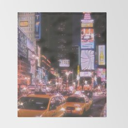 Times Square New York City Throw Blanket