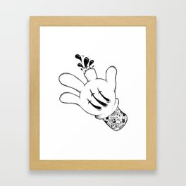 Careful who you point your finger at. Framed Art Print