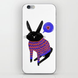 A Bunny With Feelings iPhone Skin