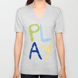 Play Nersery art Unisex V-Neck