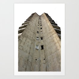 Belgrade Concrete Art Print