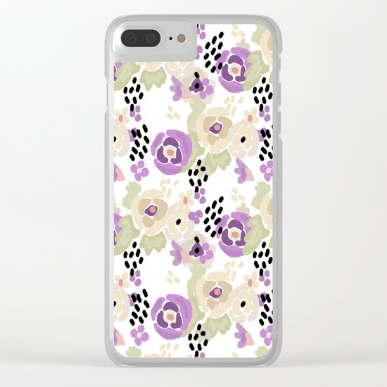 Abstract pattern , Spring 2 Clear iPhone Case