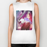 volleyball Biker Tanks featuring Beach volleyball girl sexy by Swagnation Dopetribe