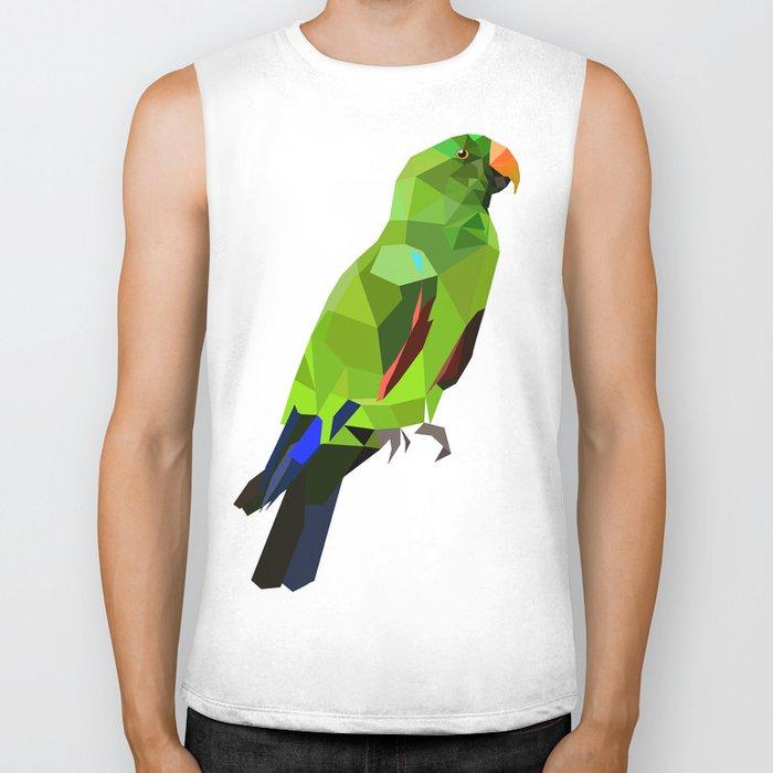 Eclectus parrot Geometric bird art Biker Tank
