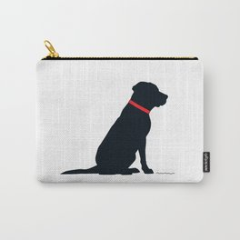 Modern Black Lab Silhouette Carry-All Pouch