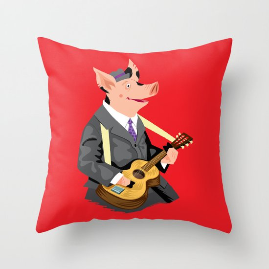 Smokey Hog Mcghee Throw Pillow