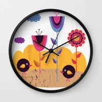 spring Wall Clocks featuring Spring by Kakel