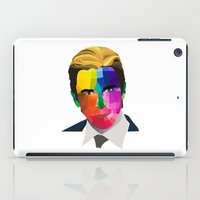 popart iPad Cases featuring Christian Bale - popart portrait by Dep's