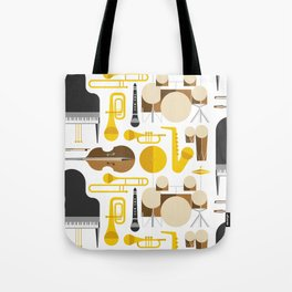 Jazz instruments Tote Bag