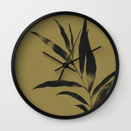 Olive Branch 02 - Ink & Willow Wall Clock
