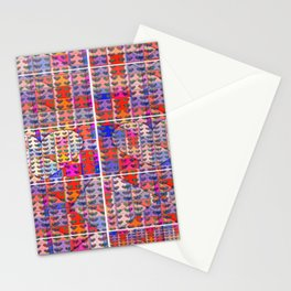 number 206 multicolored hearts pattern with orange Stationery Cards