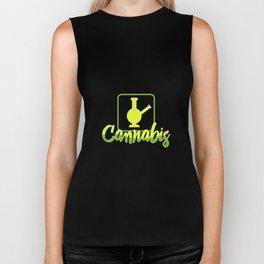 Cannabis T-shirt stoners gifts Biker Tank