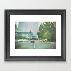 Driving & Crying Framed Art Print