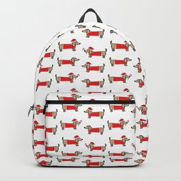 Christmas dachshund pattern Backpack