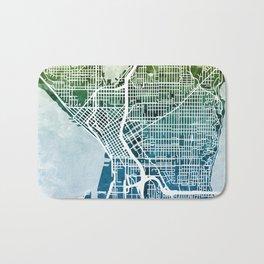 Seattle Washington Street Map Bath Mat