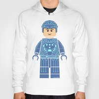 tron Hoodies featuring Tron Lego by Ant Atomic