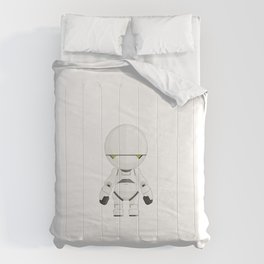 Marvin The Paranoid Android Minimal Sticker Comforters