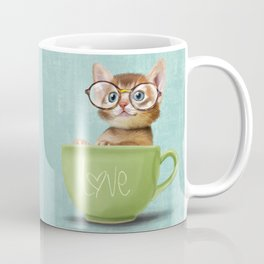 Kitten with glasses Coffee Mug