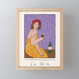 Le Vin Framed Mini Art Print