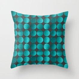 Emerald circles Throw Pillow