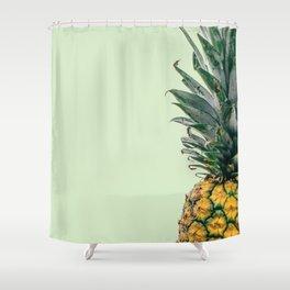 Pineapple in Light Green Shower Curtain