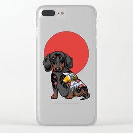 Yakuza Dachshund Clear iPhone Case