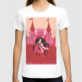 Medieval knight and a castle T-shirt