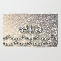 bisexual Area & Throw Rugs featuring Diamonds and sparkles I by Better HOME