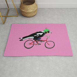 Magpie Bike Swoop (in Pink) Rug