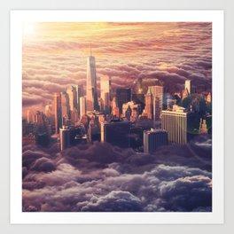 New York: Through The Roof Art Print