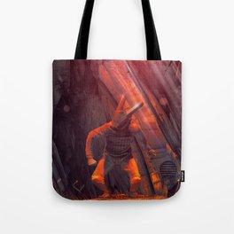 Orange Rabbit Tote Bag