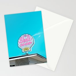 Sea Shell Shop Sign in Morro Bay Stationery Cards