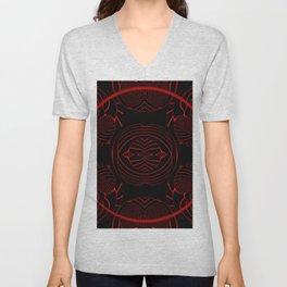 Black, red, and pattern ... Unisex V-Neck