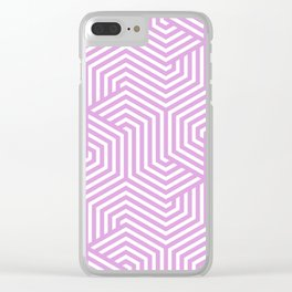 Plum (web) - violet - Minimal Vector Seamless Pattern Clear iPhone Case