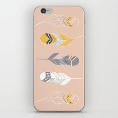 Multi Colored Feathers in Peach iPhone & iPod Skin