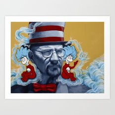 Thing One Thing Two this Meth is Blue Art Print