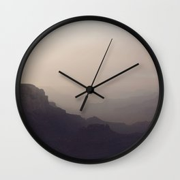 Smoky Hazy Sunset in the Grand Canyon Wall Clock