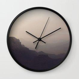 Smoky Hazy Sunset in the Grand Canyon Wall Clock