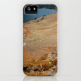 Mountain hiking iPhone Case