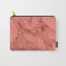Peach Calacatta Marble Carry-All Pouch