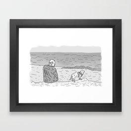 Jeff & Chet Framed Art Print