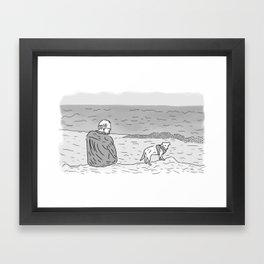 Jeff & Chet Framed Art Print