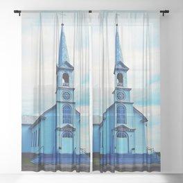 St. Georges de Malbaie Church Sheer Curtain