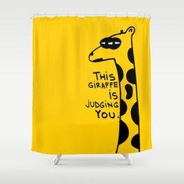 Judging Giraffe Shower Curtain