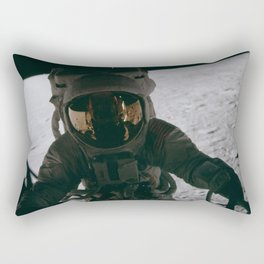 Apollo 12 - Astronaut Down The Ladder Rectangular Pillow