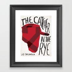 Catcher in The Rye by J.D Salinger Book Cover Re-Design Framed Art Print