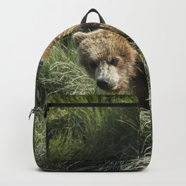Munching Grass by the Stream Backpack