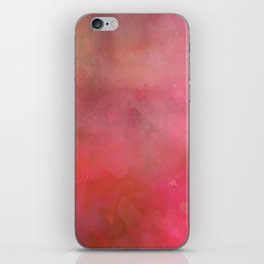 Abstract pink coral hand painted watercolor paint iPhone Skin
